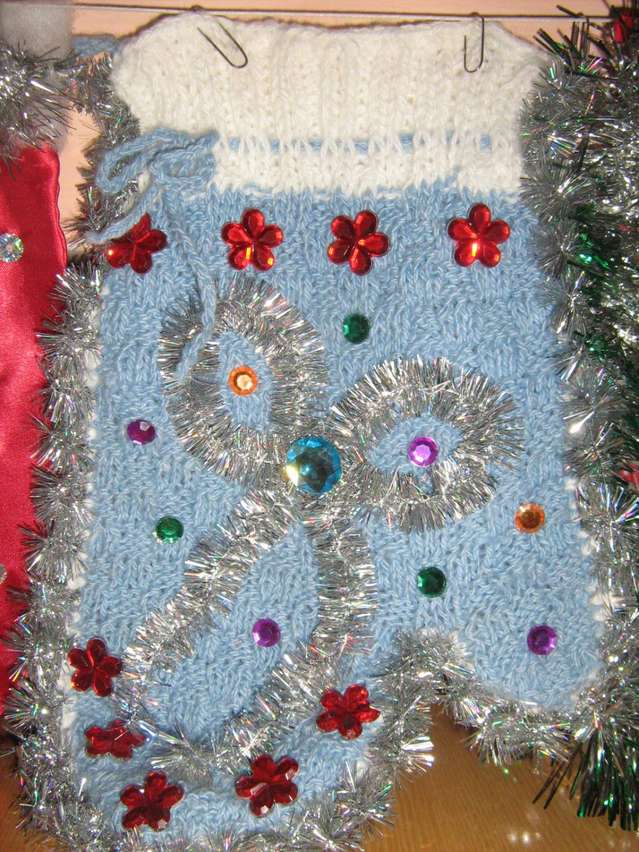 Новогодняя рукавичка своими руками фото